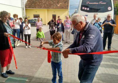 2016 - De officiële opening van de winkel in Gheorgheni